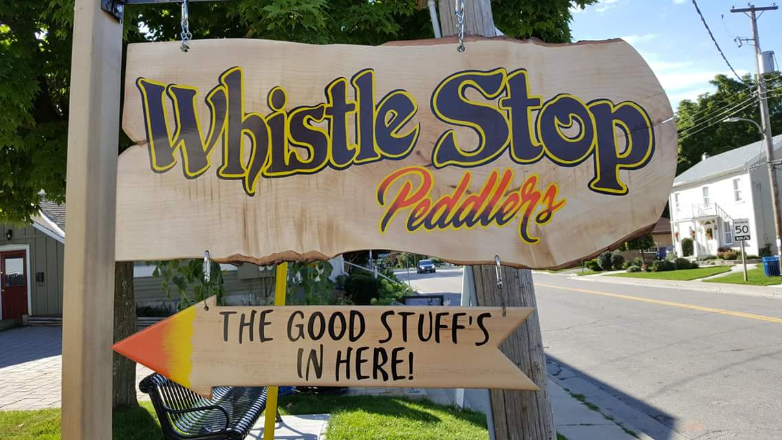 Whistle Stop Peddlers Sign