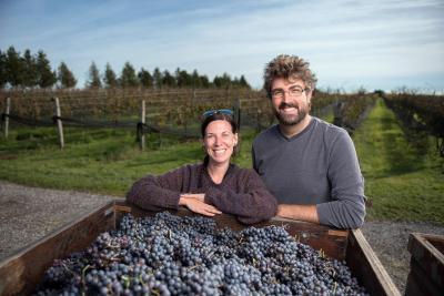Jamie & Kim Quai with their grapes